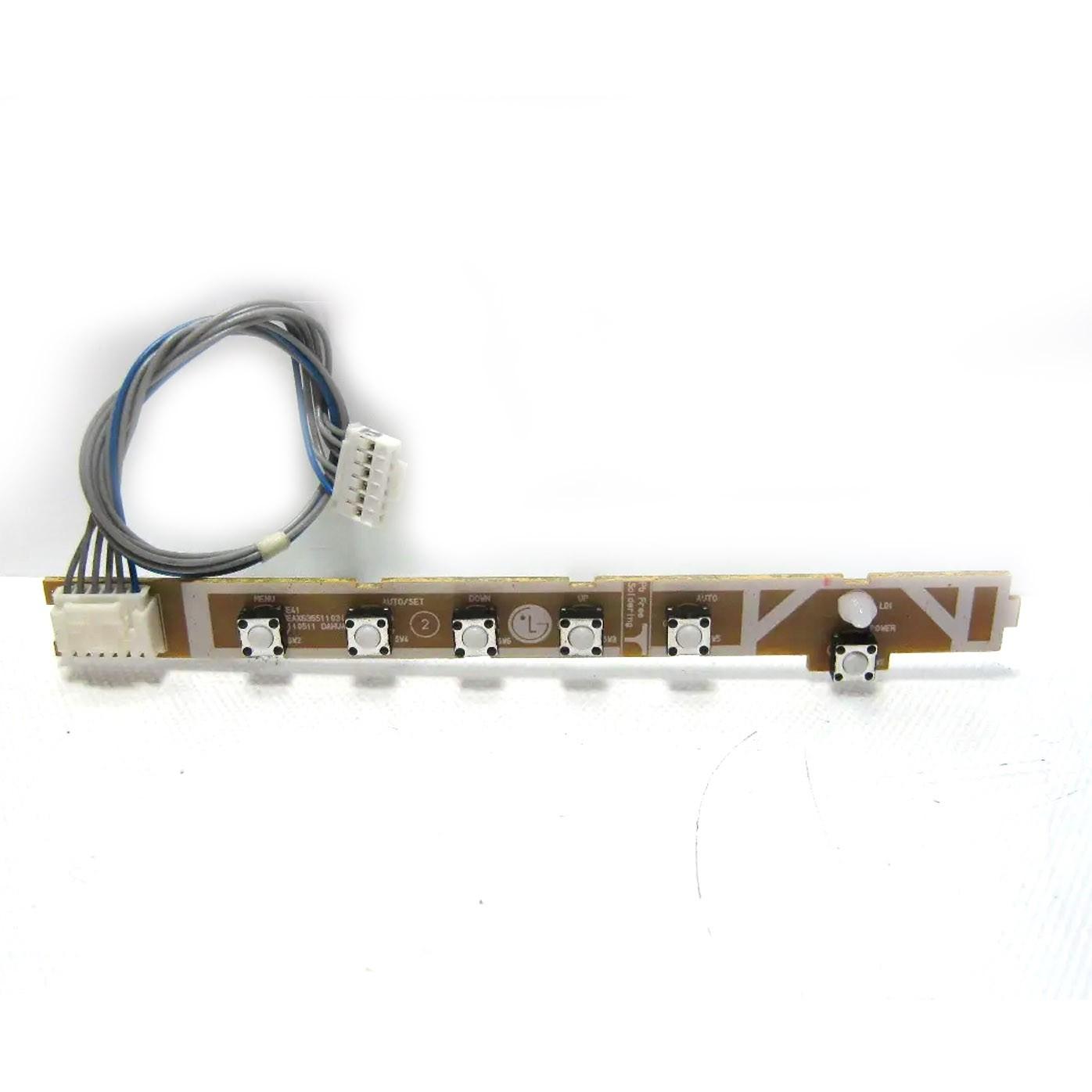 Placa Teclado Funções Monitor Hp E1941s PN: Eax63551103 - Retirado