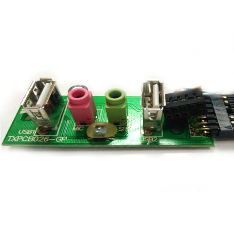Placa Usb + Audio P/ Computador Gabinete  PN:TXPCB087-GP - Retirado