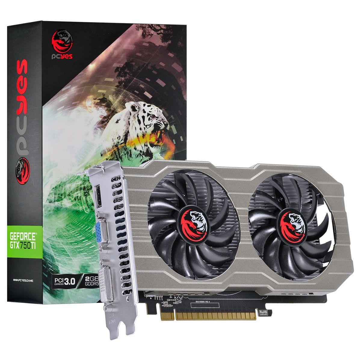 Placa Video Geforce 750TI- GTX 2GB DDR5 128Bits PcYes - PA750TI12802G5