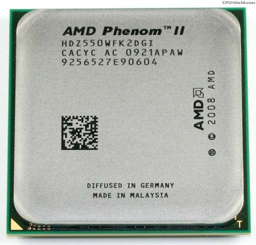 Processador AMD Phenom II X2 550 3.1 GHz Dual-Core AM3 Oem S/ Cooler