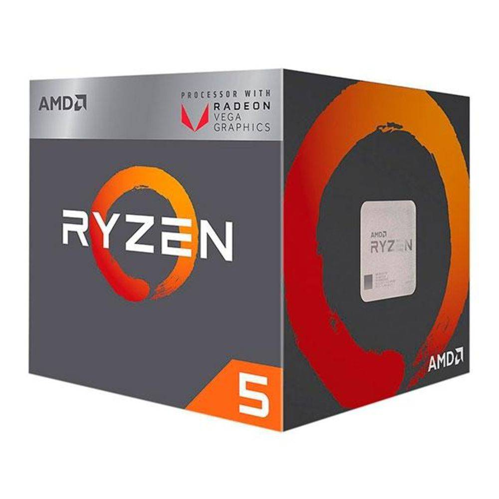 Processador AMD Ryzen 5 2400G Quatro Núcleos Cache 6MB 3.6GHz AM4, YD2400C5FBBOX