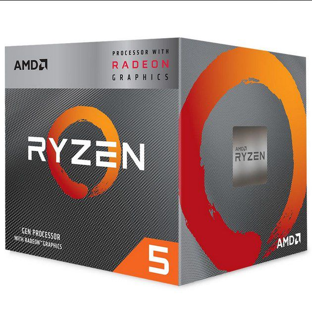 Processador AMD Ryzen 5 3400G Cache 4MB 3.7GHz 4.2GHz Max Turbo AM4 YD3400C5FHBOX
