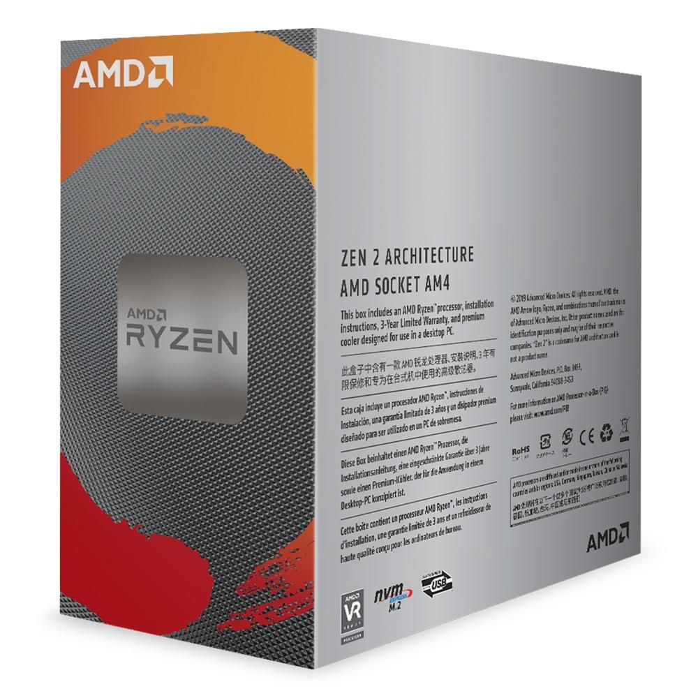 Processador AMD Ryzen 5 3600 Cache 32MB 3.6GHz AM4 100-100000031CBX
