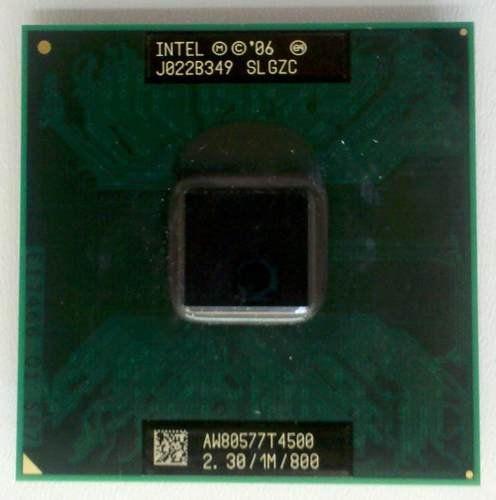 Processador Intel Dual Core T4500 2.3GHz 1MB AW80577T4500 SLGZC Semi-Novo