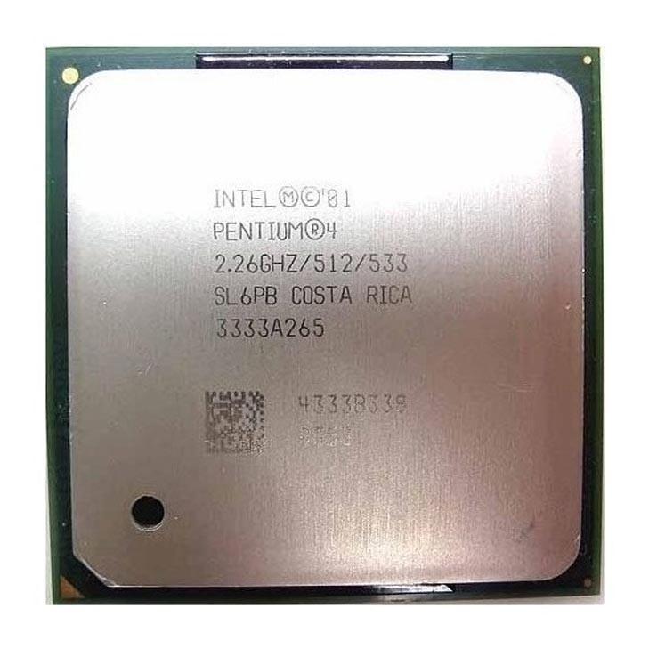Processador P/ Desktop Intel Pentium 4 2.26ghz/512/533 Socket 478 Sl6pb  - Retirado