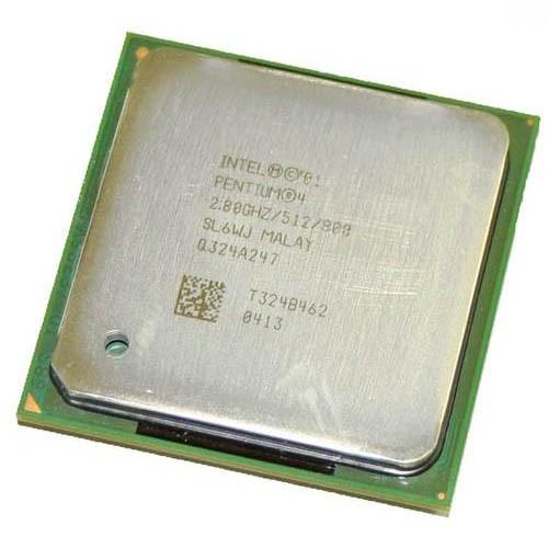 Processador P/ Desktop Intel Pentium 4 SL6WJ 2.80Ghz 800Mhz 512K PGA478 - Retirado