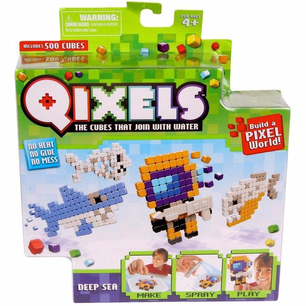 Qixels temáticos fundo do mar cubos para montar Multikids Br494