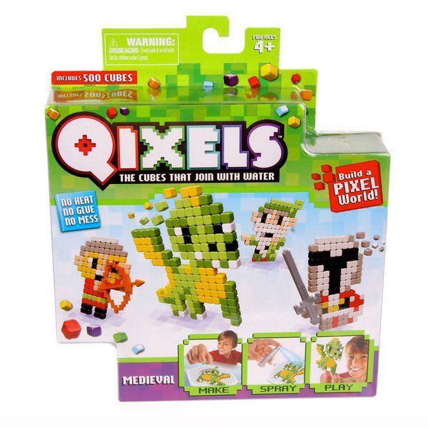Qixels temáticos medieval cubos para montar Multikids Br494