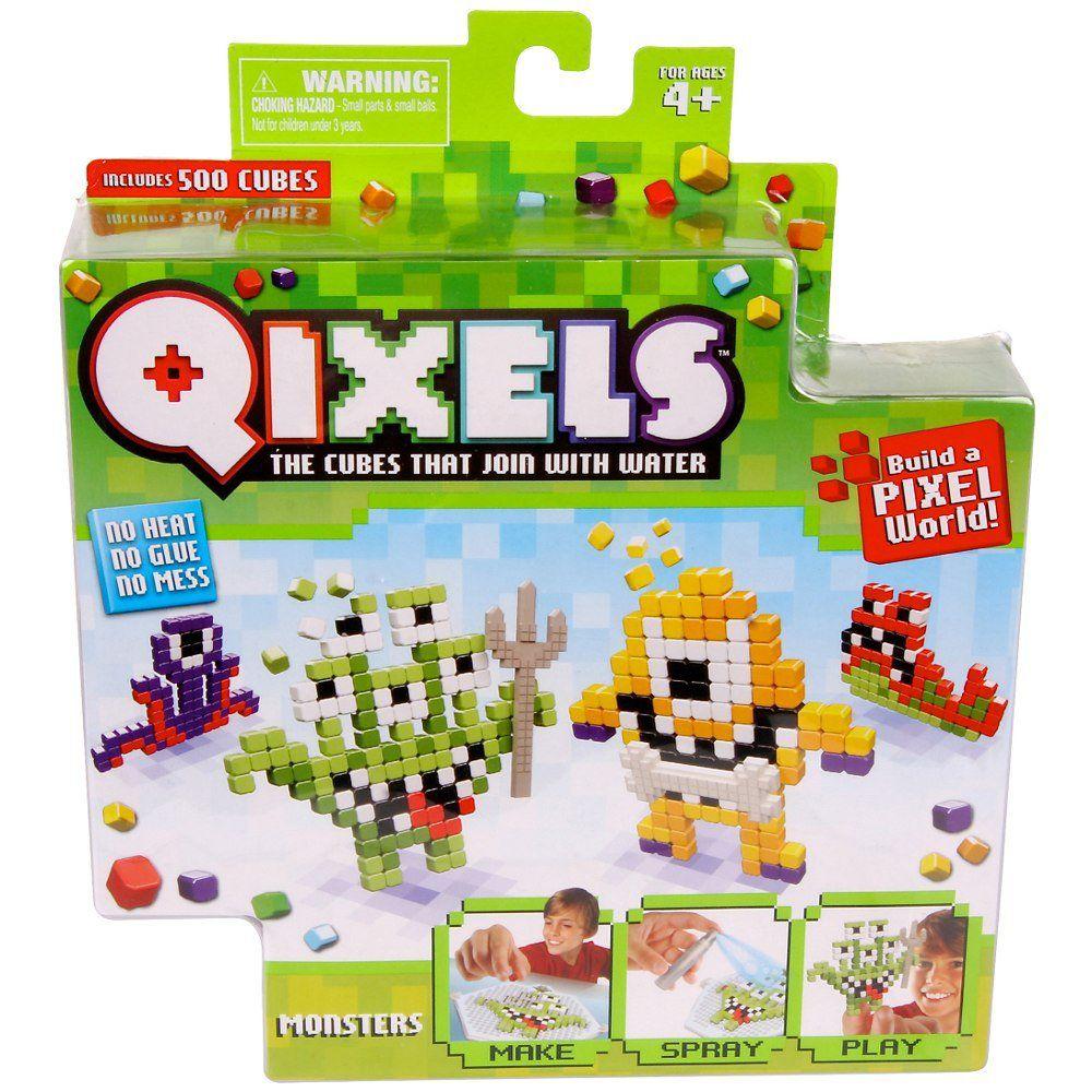 Qixels temáticos monstros cubos para montar Multikids Br494
