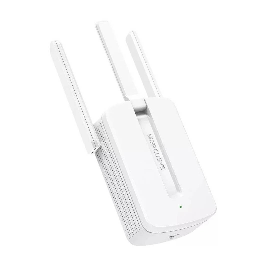 Repetidor De Sinal Mercusys Wireless 300mbps C/ 3 Antenas Branco - Mw300re
