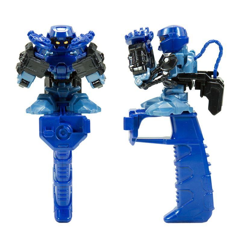 Robô brinquedo de dedo Battle Nox Push Blue Multikids BR519