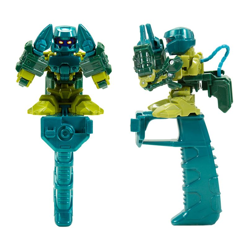 Robô brinquedo de dedo Battle Nox Beat Green Multikids BR521