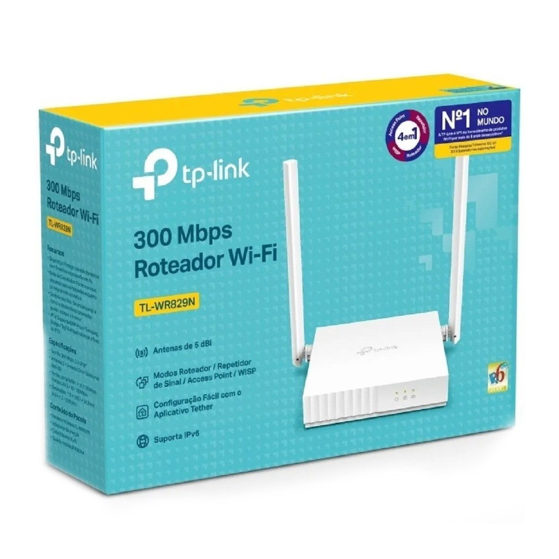 Roteador Tp-link Wireless Multimodo 300 Mbps 4em1 - TL-WR829N