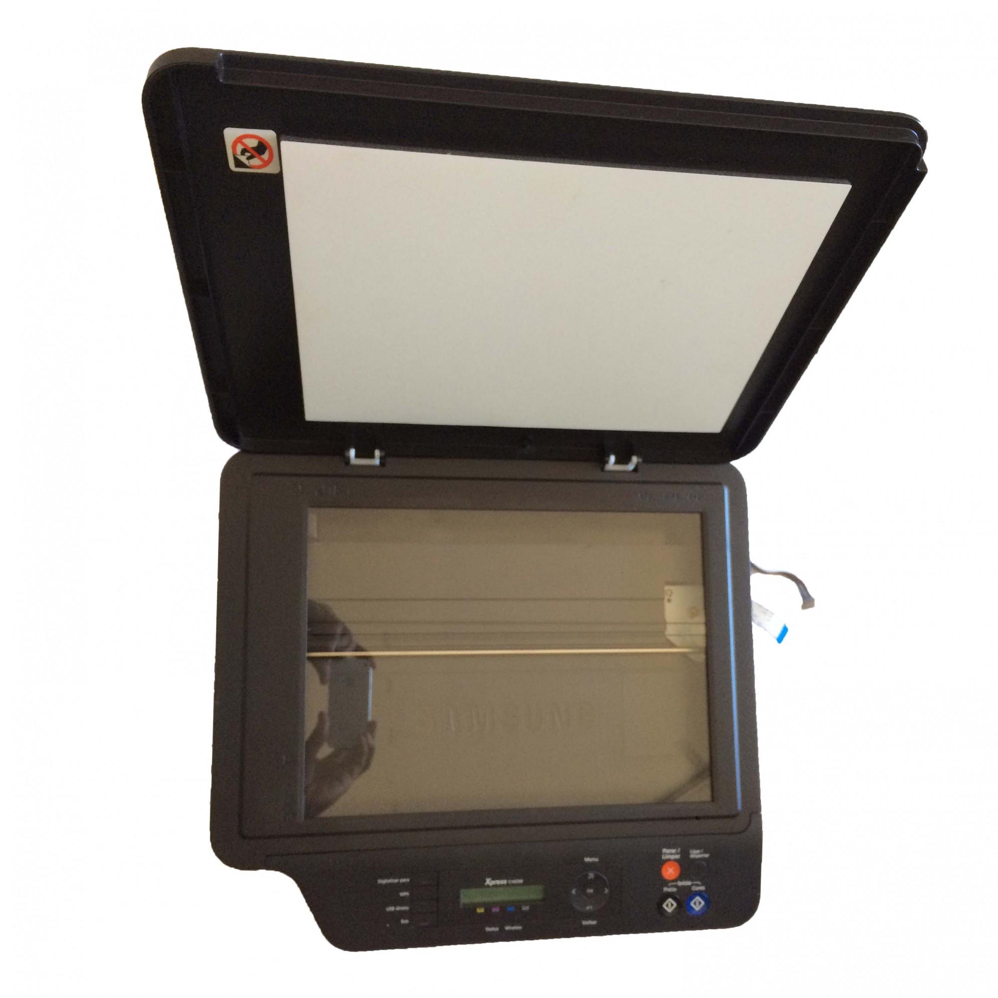Scanner Completo + Painél Funções e Cabo Flat Multifuncional Samsung Color Xpress C460W PN:CNK1JC9704178YALZEF610154 - Retirado