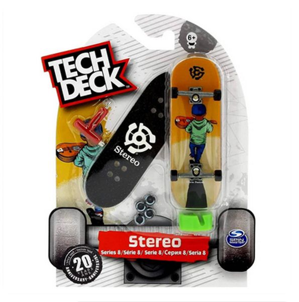 Skate de Dedo fingerboards Tech Deck - Stereo laranja BR263
