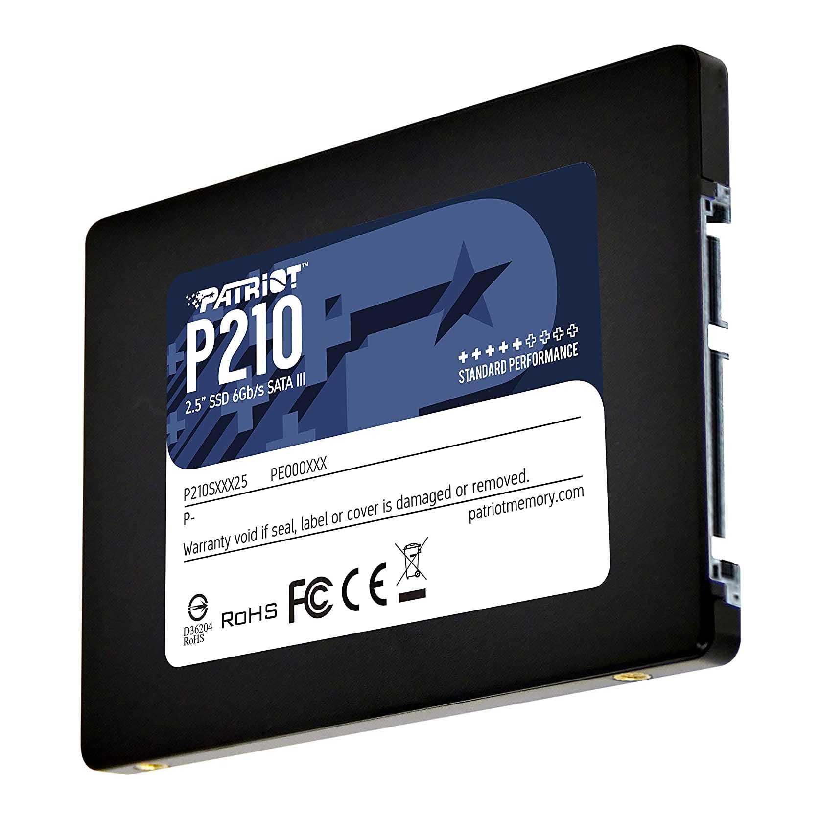SSD Patriot P210 SATA 3 256 GB 2,5 polegadas - P210S256G25