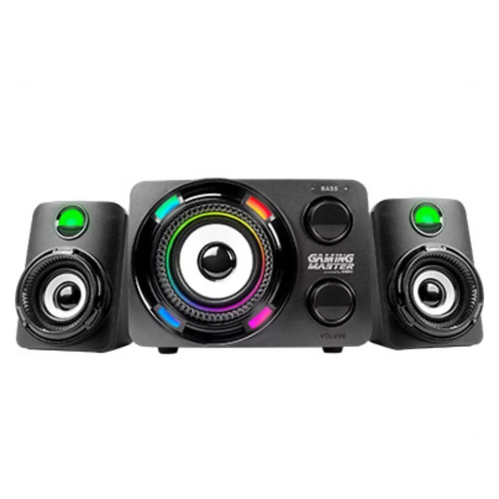 Subwoofer Gamer K-Mex 2.1 Stereo LED Multicolor - SS-9800