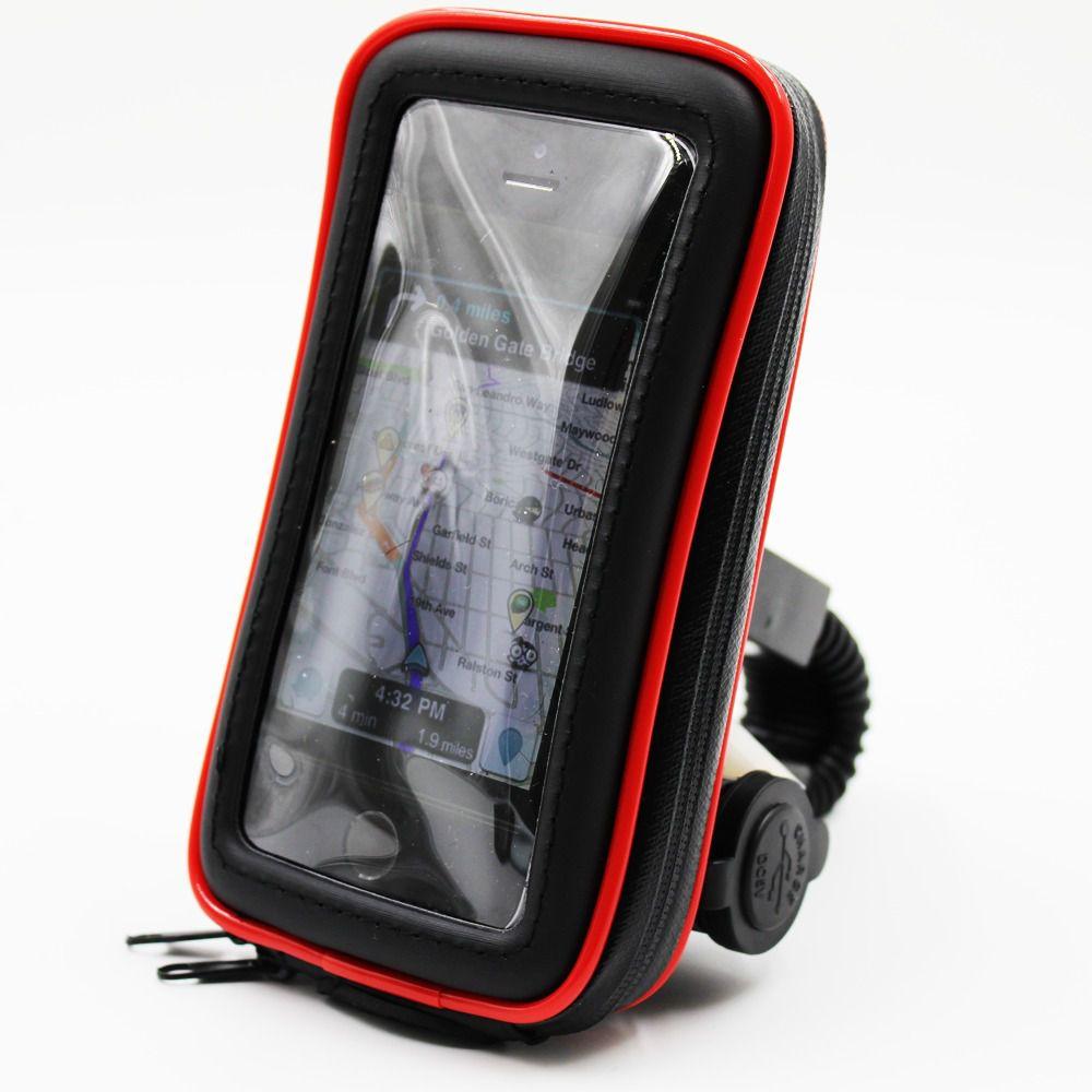Suporte Case Impermeável 360° Celular Usb Moto Sp-ca35s
