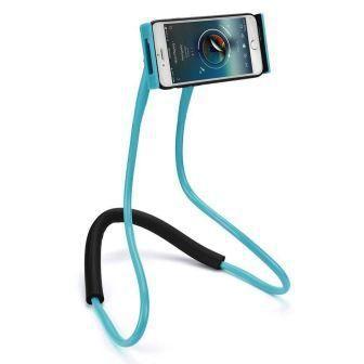 Suporte De Celular Pra Pescoço Articulado Azul