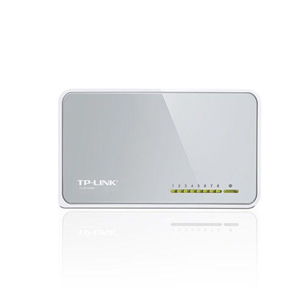 Switch Branco 8 Portas 10/100 Mbps  TP-Link TL-SF1008D
