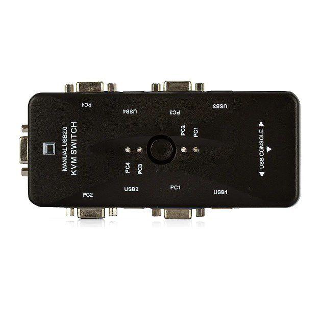 Switch KVM USB 4 Portas VGA KVM41UA - USB 2.0