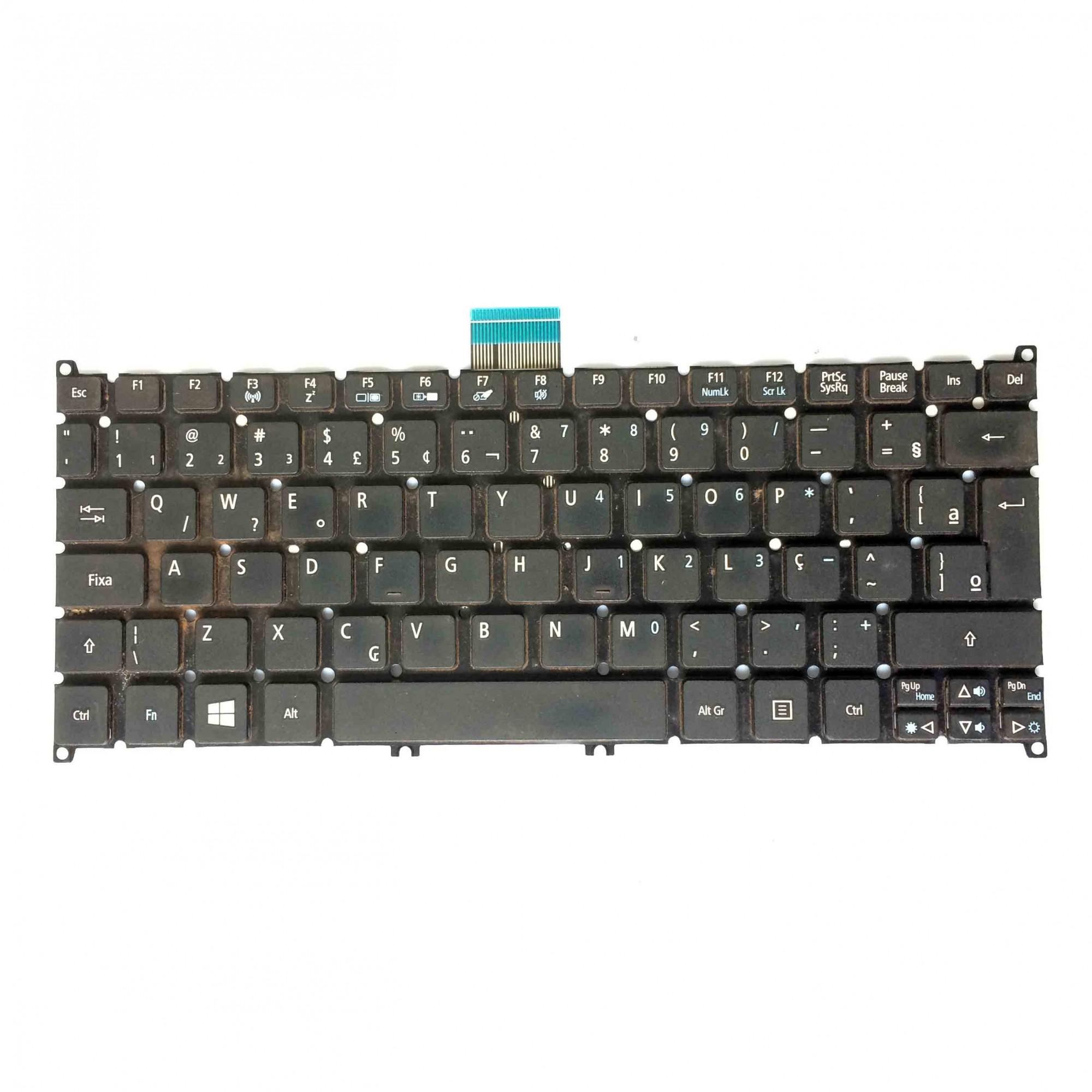 Teclado + Flat Notebook Acer Aspire Nsk-r15sc PN:9z.n7wsc.51b - Retirado