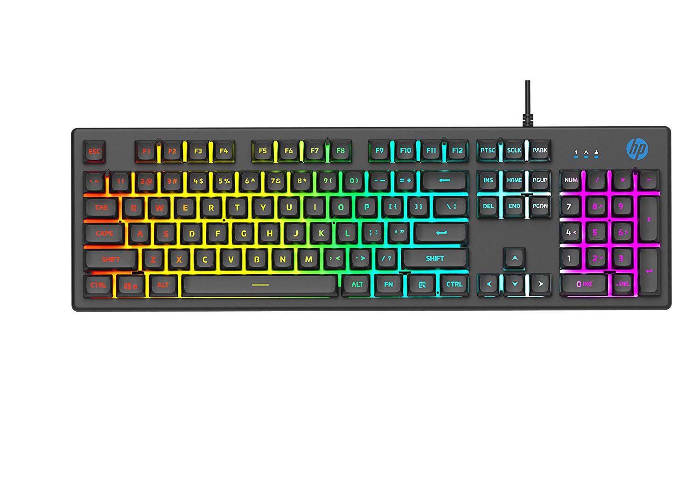 Teclado Gamer HP K500F Led RGB Black 7ZZ97AA#AC4