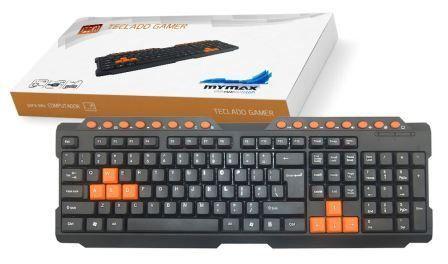 Teclado Gamer Multimídia USB ABNT II – Preto 25.009120 8158