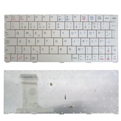 Teclado Mini + Flat Netbook BAK BK-729 Branco - NOVO