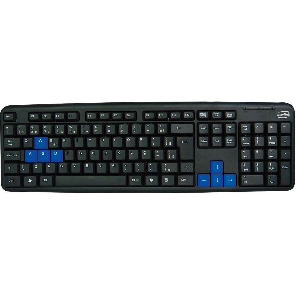Teclado Usb Newlink Preto Gamer Standart - Level Tc308
