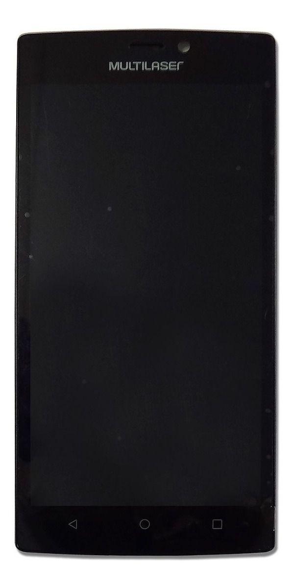 Tela Display Completo Smartphone Multilaser MS60 Preto PR30008