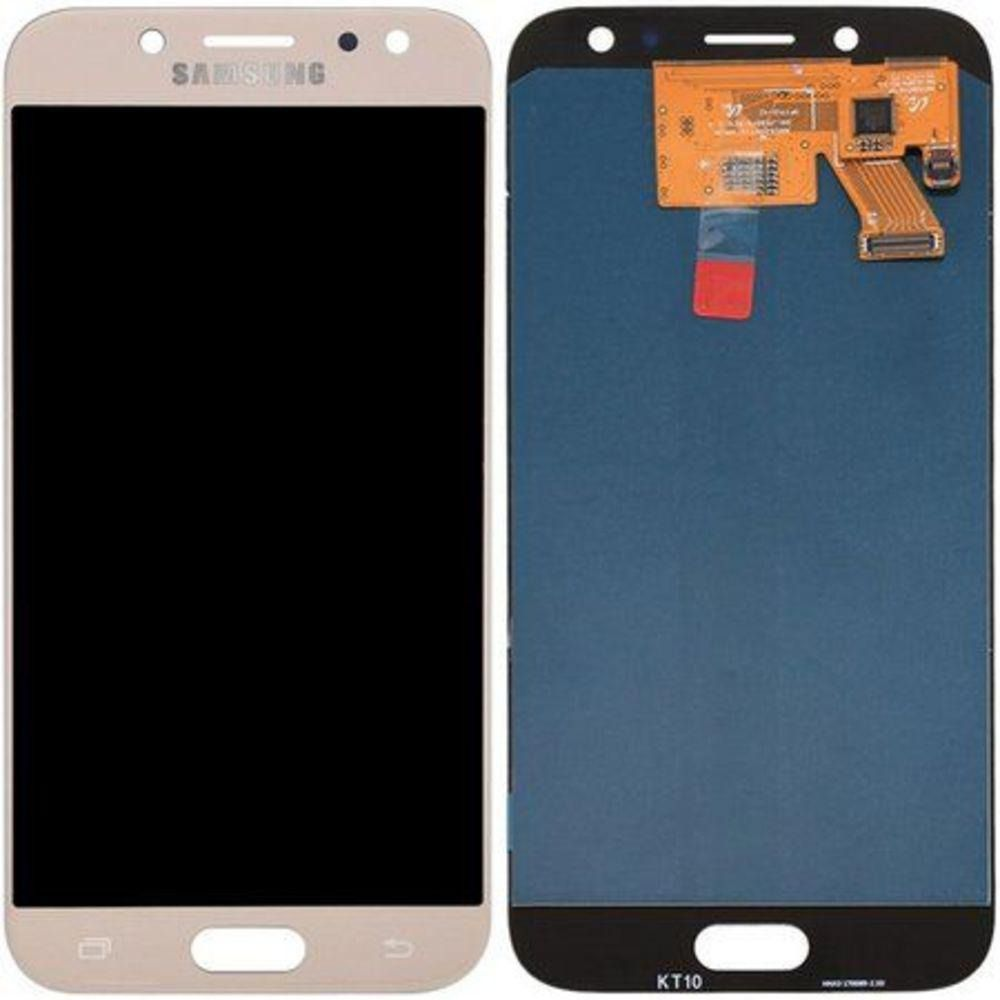 Tela LCD Frontal Display Touch Screen Galaxy J5 Pro J530 Dourado com brilho