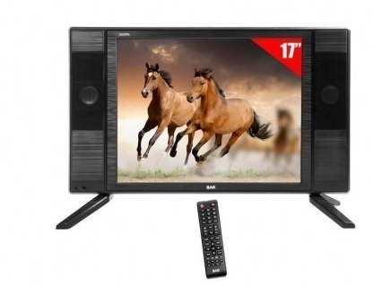 Tela TV Led 17'' Polegadas Bak Premium Bk-1750 HD C/ Conversor Digital Integrado