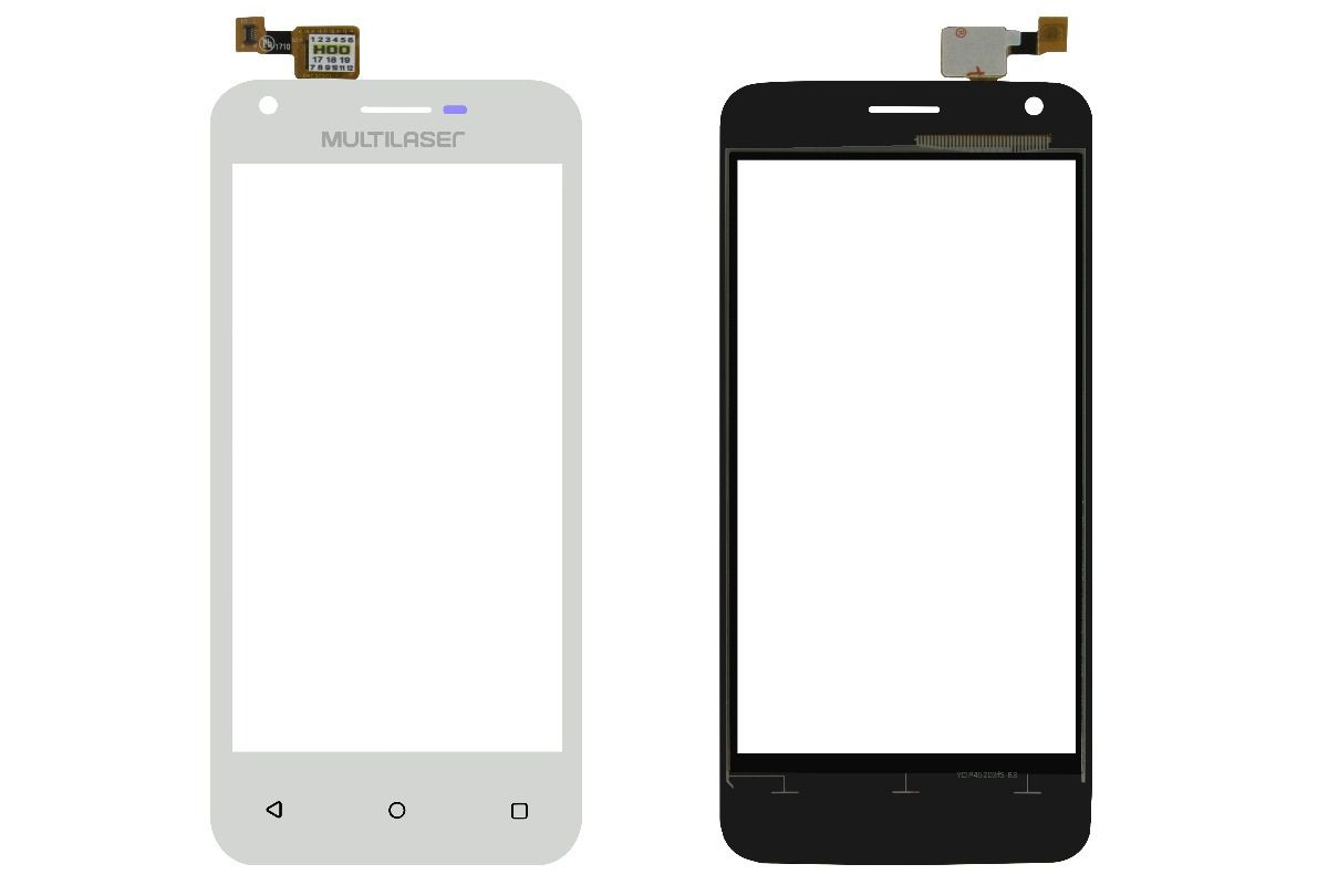 Tela Touch Smartphone Multilaser Ms45S Branco PR30032