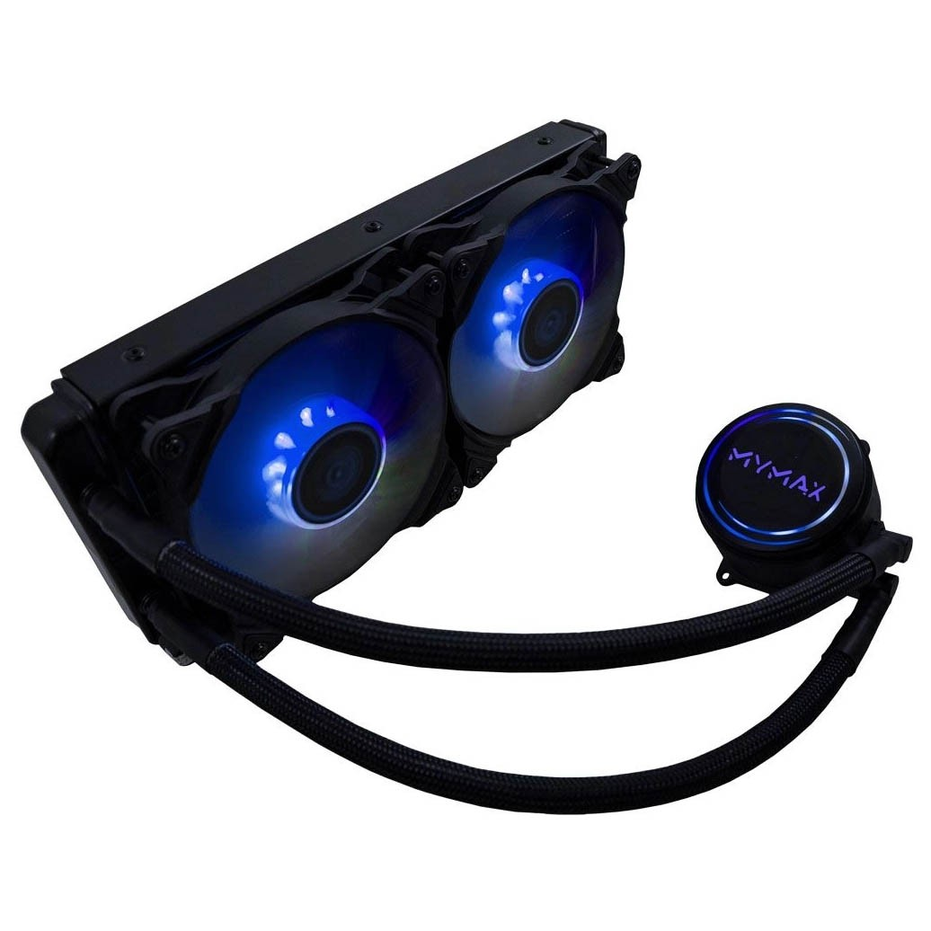 Watercooler New ALGOR 240MM AMD e Intel LED Azul MYMAX - MYC/FC-V3-240-BL