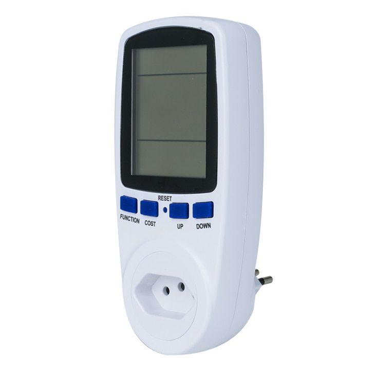 Wattímetro Digital Medidor Voltagem e consumo eletrônico 110V/220V