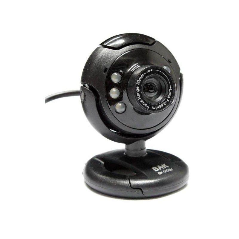 Webcam Bak USB 2MP 30FPS BK-5800M Preto