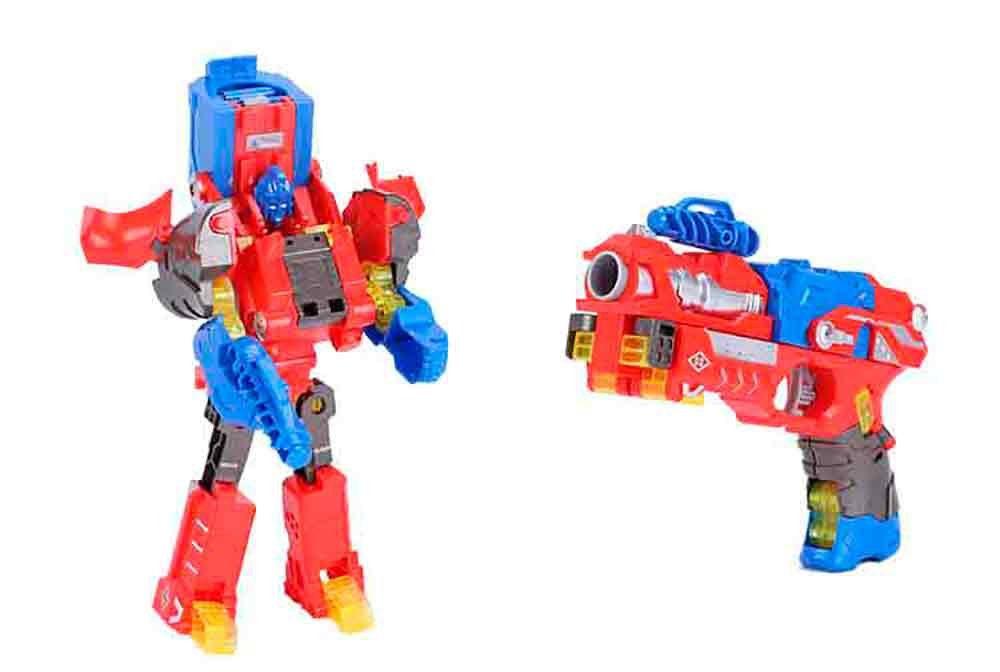 XChangers Lançador de Dardos Que Vira Robô - Vermelho - Multikids BR103