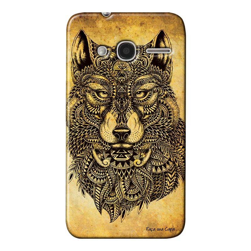 Capa Personalizada para Alcatel Pixi 4 4.0 Lobo Silvestre - PE81