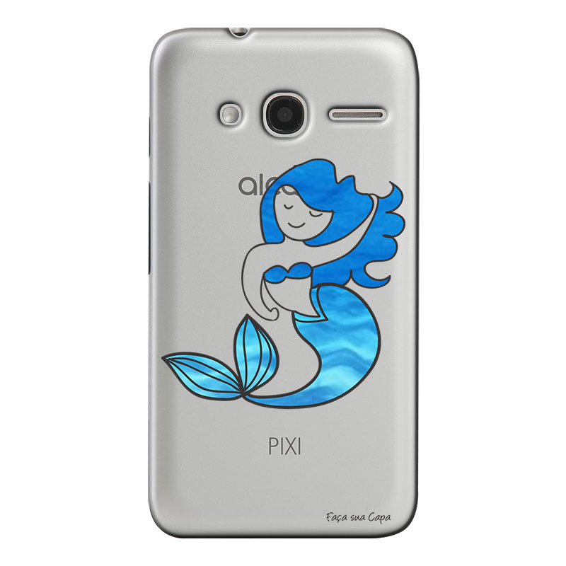Capa Personalizada para Alcatel Pixi 4 4.0 Sereia - TP301