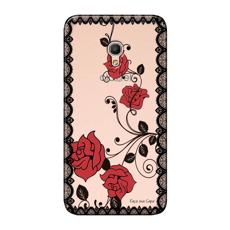 Capa Personalizada para Alcatel Pixi 4 5.0 Renda com Rosas - TP291