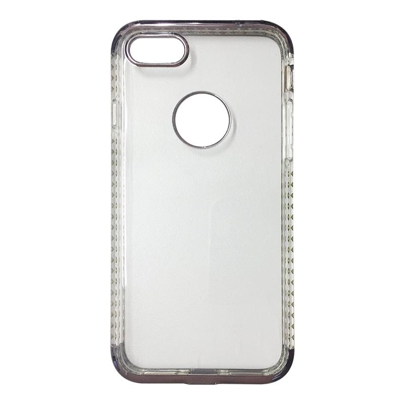 Capa Bumper TPU Premium com Cristais para iPhone 7 - Chumbo