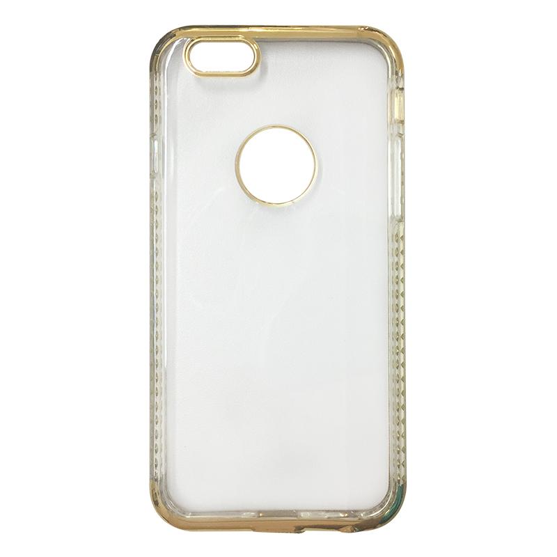 Capa Bumper TPU Premium com Cristais para iPhone 6 6S - Dourada