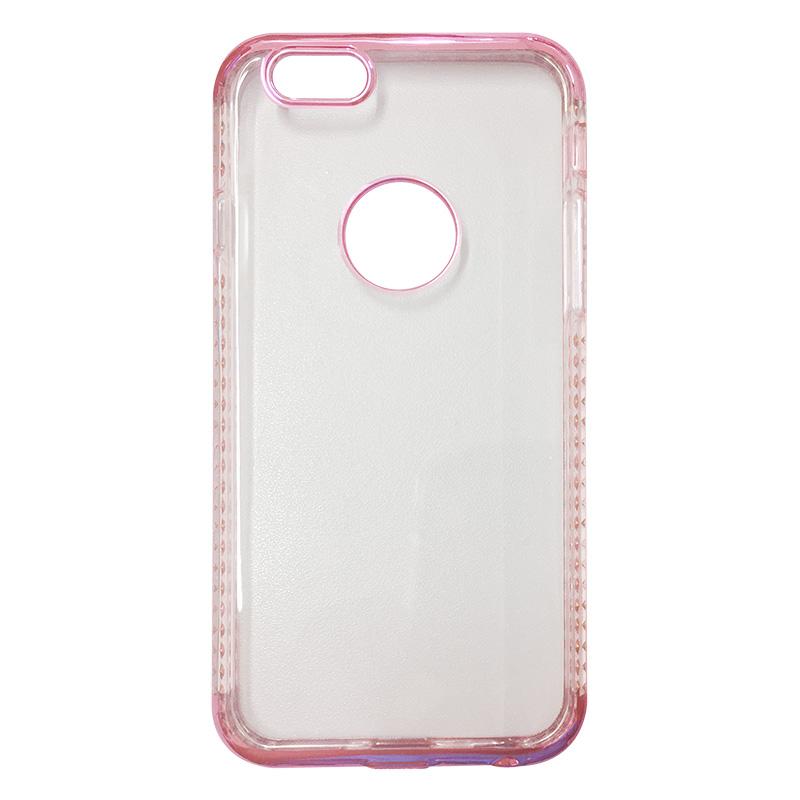 Capa Bumper TPU Premium com Cristais para iPhone 6 6S - Pink