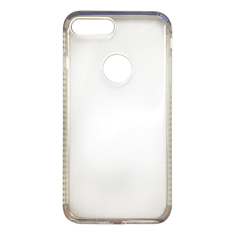 Capa Bumper TPU Premium com Cristais para iPhone 7 Plus - Prateada