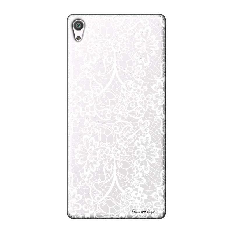 Capa Personalizada para Sony Xperia XA Ultra Renda Branca - TP283