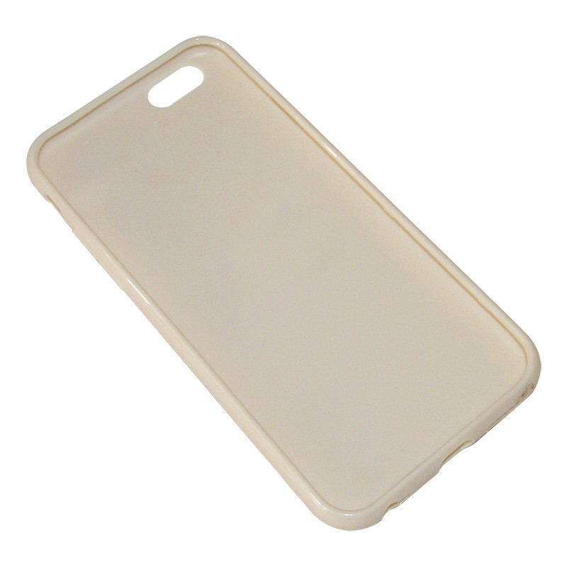 Capa TPU Premium para Apple Iphone 6 6S Bege - Matecki