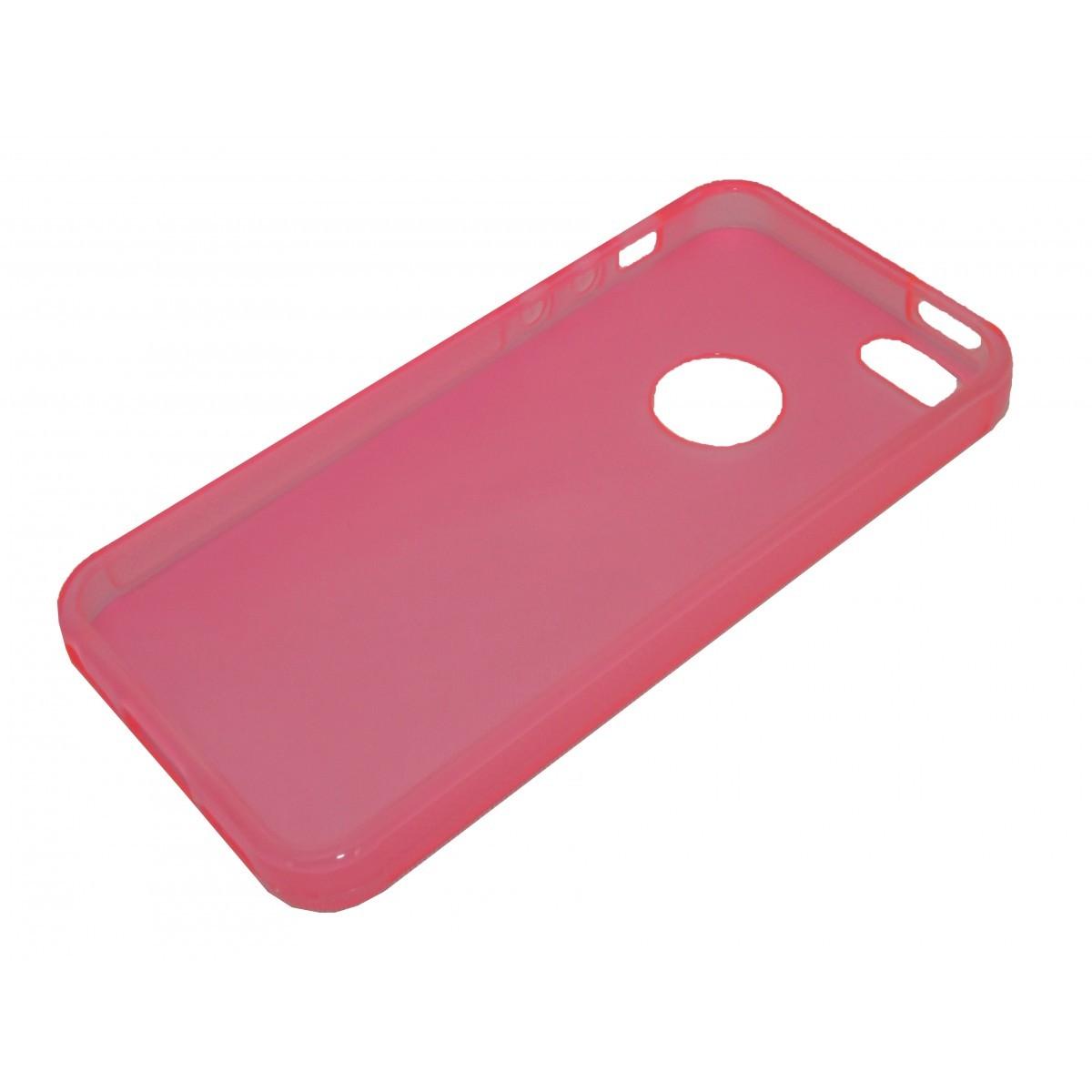 Capa de Tpu para Iphone 5 5G  Pelicula Rosa - Matecki