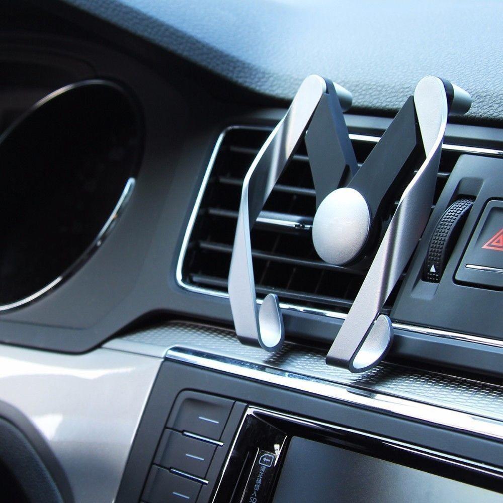 Suporte Veicular Auto Ajustável Saída de Ar para Celular até 6 Polegadas - Dourada