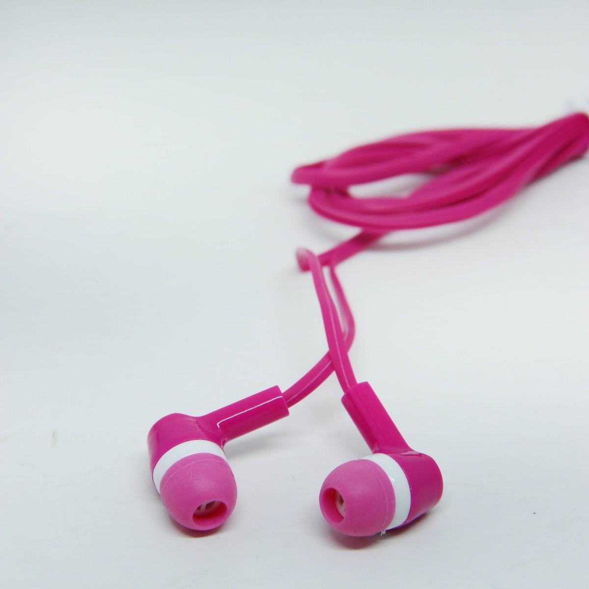Fone de Ouvido P2 Stereo - Pink